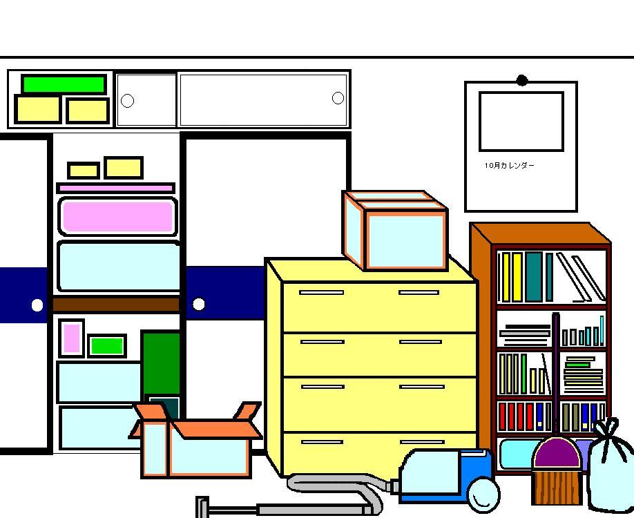 物が多い部屋の画像
