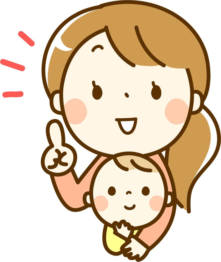 SOELUの赤ちゃん泣いたら保証を説明する主婦