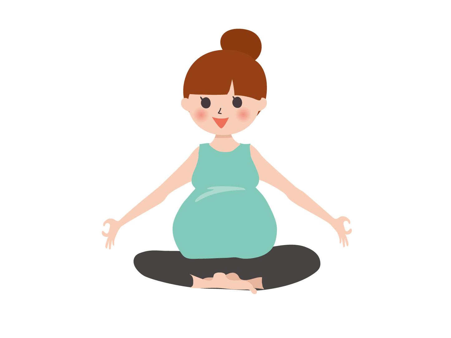 妊婦がSOELUでヨガをする女性