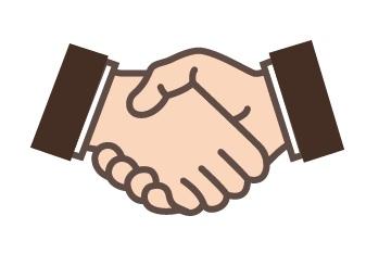 リーンボディが他の企業と握手する画像