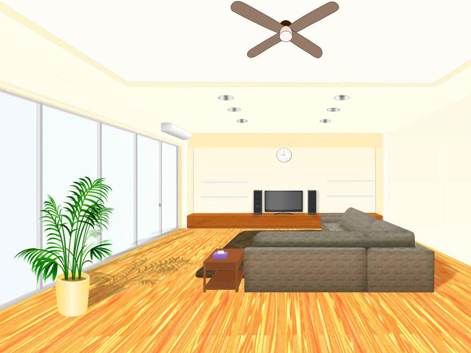 運動が快適にできる広い部屋