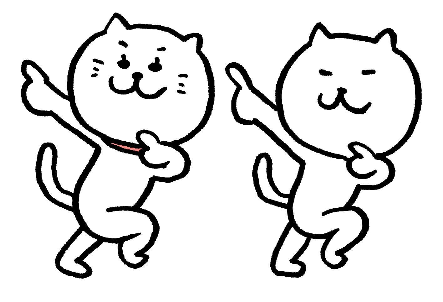 リーンボディの無料体験を使ってノリノリでダンスをする猫たち