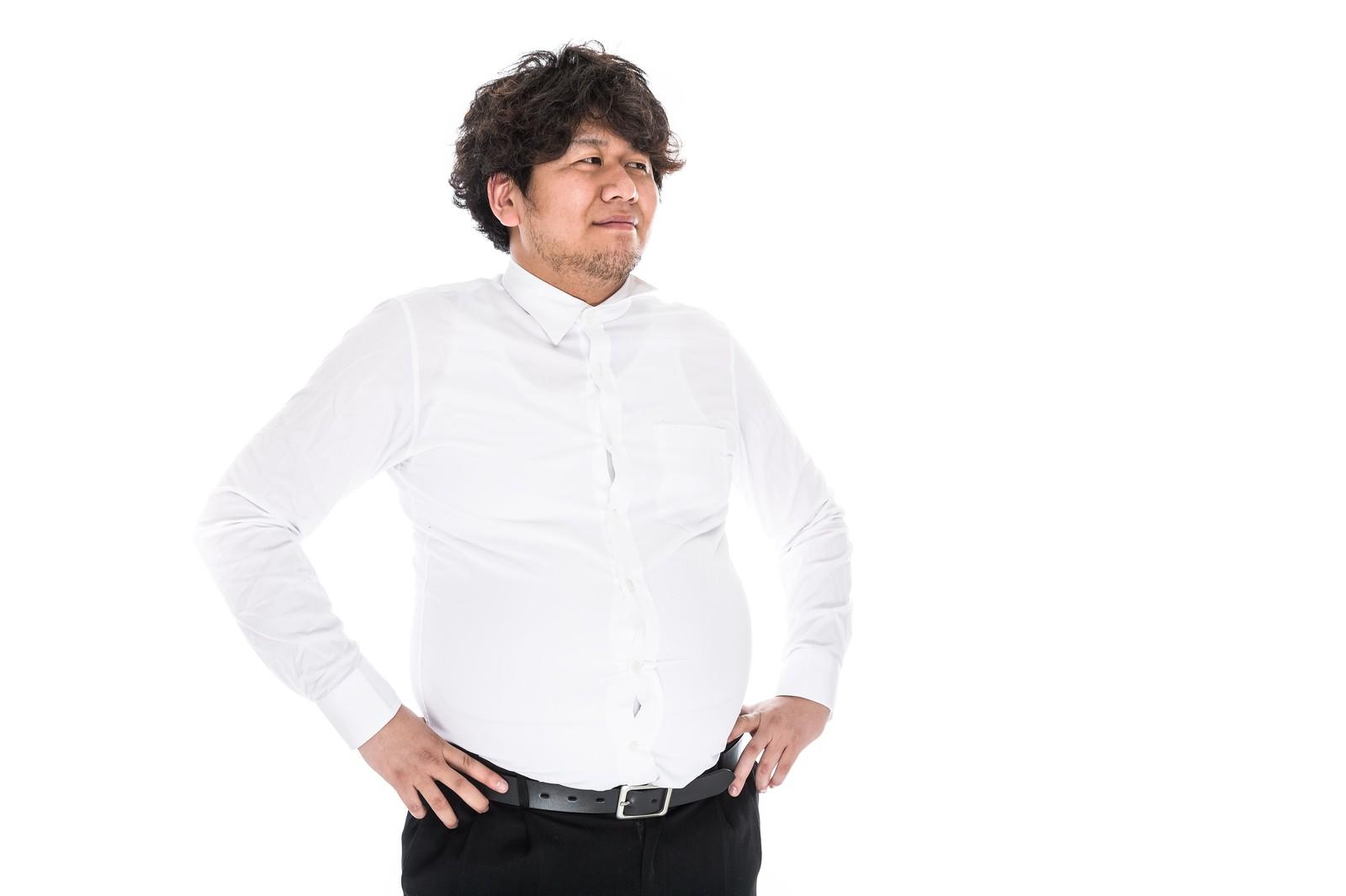太った男性がPlezに挑戦しようか考えてる画像