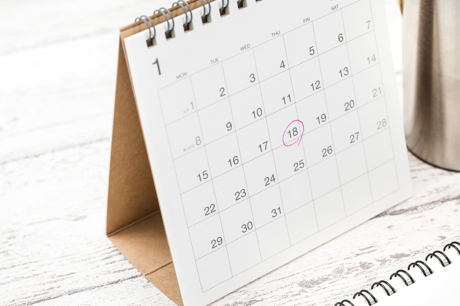 Plezを利用して1ヶ月を表すカレンダー